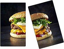 Herdabdeckplatten, Schneidebrett aus Glas, Burger