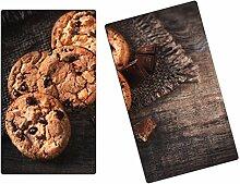 Herdabdeckplatten, Schneidebrett aus Glas, Cookies
