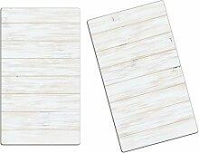 Herdabdeckplatten, Schneidebrett aus Glas, Holz