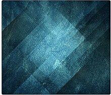 Herdabdeckplatten, Schneidebrett aus Glas,Lederoptik Türkis Blau HA111901364 Variante 1x Scheibe (1 Panels)