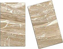 Herdabdeckplatten, Schneidebrett aus Glas, Marmor