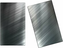 Herdabdeckplatten, Schneidebrett aus Glas,Metall