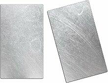 Herdabdeckplatten, Schneidebrett aus Glas, Metall
