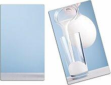 Herdabdeckplatten, Schneidebrett aus Glas, Milch