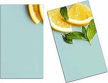 Herdabdeckplatten, Schneidebrett aus Glas, Orangen