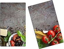 Herdabdeckplatten, Schneidebrett aus Glas, Pasta