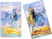 Herdabdeckplatten, Schneidebrett aus Glas, Pferde