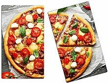 Herdabdeckplatten, Schneidebrett aus Glas, Pizza