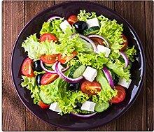 Herdabdeckplatten, Schneidebrett aus Glas, Salat