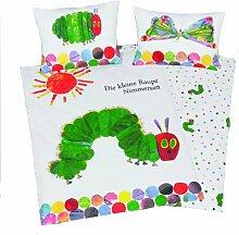 Herding 266001063 Babybettwäsche Kleine Raupe Nimmersatt, 40 x 60 cm + 100/135 cm,Biber