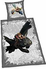 Herding 4426208050521 Dragons Bettwäsche Bettwäsche-Set, Baumwolle, Grau, 135 x 200 cm