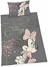 Herding 4478207064 Minnie Mouse Bettwäsche Bettwäsche-Set, Baumwolle, Rosa, 160 x 210 cm
