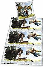 Herding 4632017050521 Dragons Bettwäsche Bettwäsche-Set, Baumwolle, Mehrfarbig, 135 x 200 cm