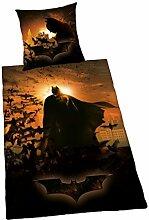 Herding Batman Bettwäsche, Polyester, schwarz,