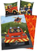 Herding Flanell Bettwäsche Feuerwehrmann Sam 135