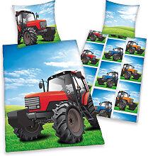 Herding Flanell Bettwäsche Traktoren 135 x 200 cm