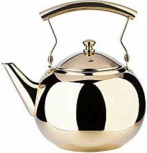 Herdkessel Teekanne Goldkanne mit Aufguss für