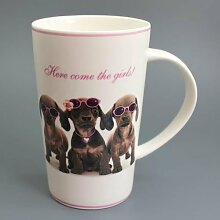 Here Come The Girls! - Dackel - Mug - Becher - Latte
