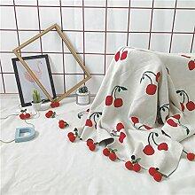 Here&There Baby Decke Kindedecke Kinderzimmer Schlafzimmer Wohnzimmer Boden Babyzimmer Mädchen Dekoration Spielteppich Handball Ballmatte (Kirsche, 1*1.5m) ¡