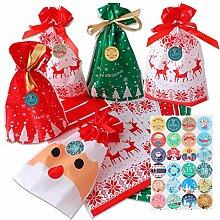 Herefun 24 Stück Weihnachten Geschenksäckchen,
