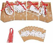 Herefun 24Pcs Weihnachten Geschenktüten,