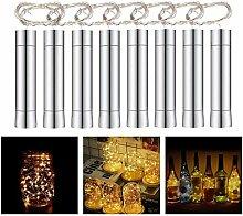 Herefun 8 x 20 LED Flaschenlicht Lichterkette 2M,