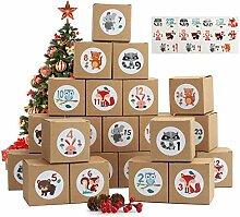 Herefun DIY Adventskalender Kisten Set,