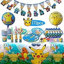 Herefun Pokemon Kindergeburtstag Party Dekoration,