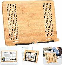 Hereubuy Buchständer aus Bambus, für