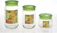 Herevin Dekorglas einfach 720 ml Glasdose Deko Glas Vorratsdose Kavanoz Vorratsglas Vorratsbehälter