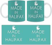 Hergestellt In Halifax Stylised Keramik