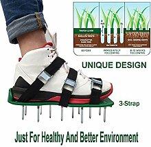 Hergon Rasenlüfter Schuhe mit 4 Verstellbare