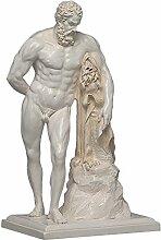 Herkules Farnese Skulptur aus hochwertigem Zellan,