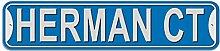Herman Schild–Kunststoff Wand Tür Street Road Stecker Name, plastik, blau, Cour