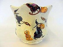 Heron Cross Pottery Blumentopf, Hexen-Design, klein