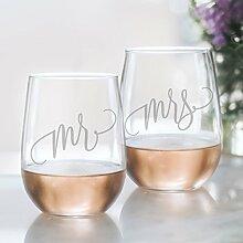Herr und Frau Wein Glas Set–Klauenhammer,