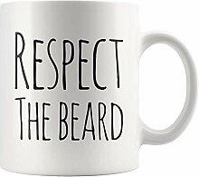 Herren Kaffeetasse Respektieren Sie den Bart
