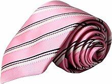 Herren Krawatte Streifen Krawatte Rosa Polyester
