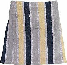 Herren Saunakilt 100% Baumwolle mit Klettverschluss, 350 g/ m, Größe XL (Grau)