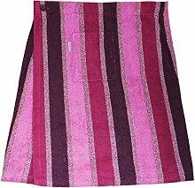 Herren Saunakilt 100% Baumwolle mit Klettverschluss, 350 g/ m, Größe XL (Rosa)