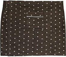Herren Saunakilt CAMPO, 100% Baumwolle mit Klettverschluss, Größe XL, 350 g/ m² (Braun)