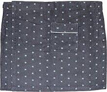 Herren Saunakilt CAMPO, 100% Baumwolle mit Klettverschluss, Größe XL, 350 g/ m² (Grau)
