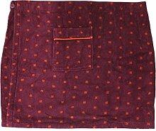 Herren Saunakilt CAMPO, 100% Baumwolle mit Klettverschluss, Größe XL, 350 g/ m² (Bordeaux)