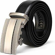 Herren Top Rindsleder echtes Leder Ratsche Kleid automatische Buckle Gürtel Luxus Gürtel Business Gürtel für Männer Cinto