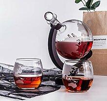 Herren Whisky Glasset, High Borosilicate mit