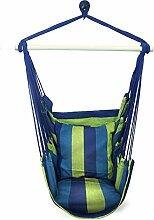 Hersbrucker Seil zum Aufhängen Hängematte Sessel Swing für jeden Innen- oder Outdoor spaces- Max. 265lbs-2Sitz Kissen inklusive