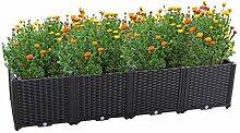 Hershii Garden Hochbeet Kits Kunststoff rechteckig