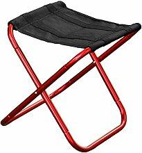 Heruai Im Freien faltender Hocker Aluminiumlegierung Beweglicher Klappstuhl-Fischen-Strand-Stuhl-Freizeit-Hocker , red