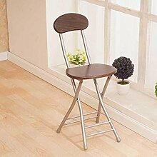 Heruai Innen-Büro Tisch Stuhl Falten Hocker Massivholz Schreibtisch Stühle Portable Angeln Hocker Outdoor Holz Bank Metall Stand Round Step Hocker Klappstühle , c
