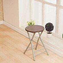 Heruai Innen-Büro Tisch Stuhl Falten Hocker Massivholz Schreibtisch Stühle Portable Angeln Hocker Outdoor Holz Bank Metall Stand Round Step Hocker Klappstühle , f